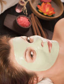 Woman with spa mask — Stock Photo