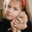 Girl with rabbit — Stock Photo #18165705