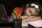 Tired girl — Stock Photo