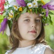 Girl with a wreath — Stock Photo