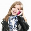 Girl with mobile phone — Stock Photo