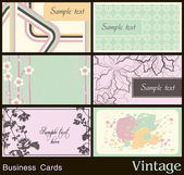 Business card with vintage background — Stock Vector