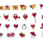 Valentine icons — Stock Vector