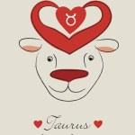 Taurus valentine — Stock Vector