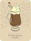 Coffee mocha chocolate — 图库矢量图片