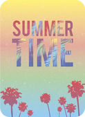 Typographical quote summer time sunny background — Stock Vector