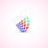 Abstract business icon — Stock Vector