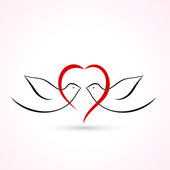 Love Birds icon — Stock Vector