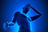 Head pain - A Man with a Headache — Stock Photo