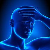 Uomo di avere un mal di testa — Foto Stock
