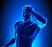 A Man with a Headache — Stock Photo