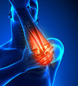 Elbow Pain Male - Front view — Foto Stock