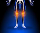 Human knee pain — Stock Photo