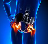 Hip Pain Male — Stock Photo