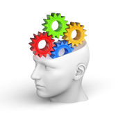Creative concept of the human brain - Thinking — Stock Photo