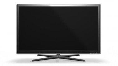 Tv a schermo piatto - con canale alfa — Video Stock