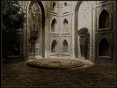 Gothic temple interior — Stock Photo