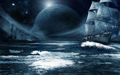 Ghost ship — Stock Photo