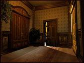 Corredor do hotel vitoriano — Fotografia Stock