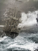 Old ghost ship — Stock Photo