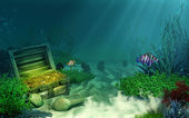 Sunken treasure chest — Stock Photo