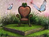 Heart shaped throne — Stock Photo