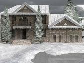 суд в долине снег — Стоковое фото