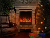 Noel victorian room — Stok fotoğraf