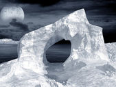 Ice arch — Stock Photo