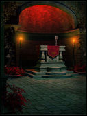 Altar in the old temple — Foto Stock