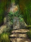 Elven tree house — Stock Photo