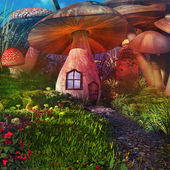Fairytale mushrooms — Stock Photo