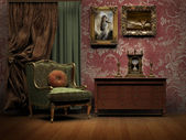 Victorian old room — Stock Photo