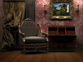 Victorian room with armchair — Стоковое фото