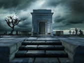 Trap naar het graf — Stockfoto