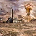 Постер, плакат: Nuclear explosion near the factory