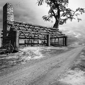 Ruiny starého baráku — Stock fotografie