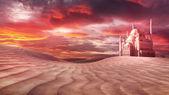Çölde Camii — Stok fotoğraf
