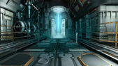 Spaceship interior — Stock Photo