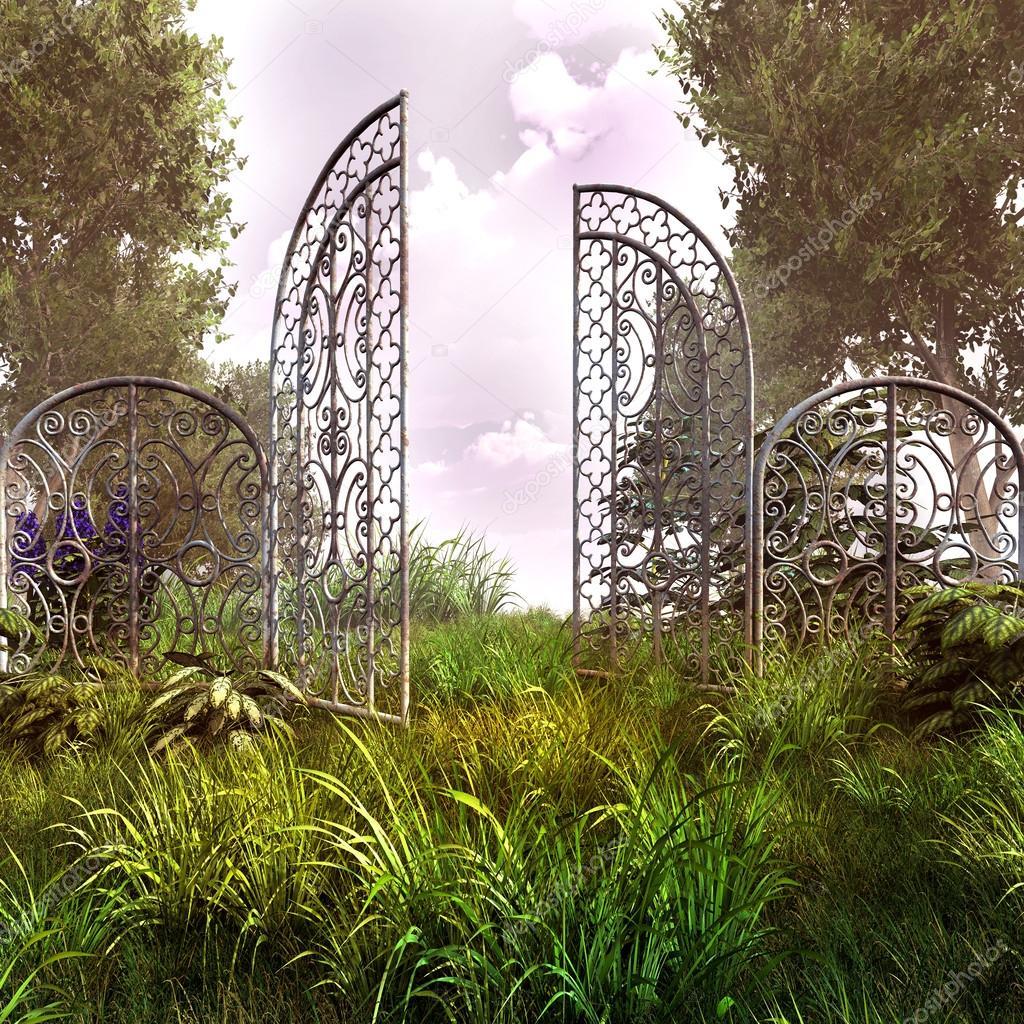 Alte rostige garten gateway stockfoto mppriv 49042443 for Garden gateway