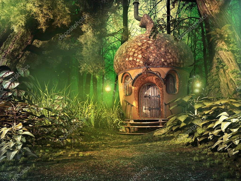 Maison de la fée dans la forêt profonde — Photographie mppriv © #49042447