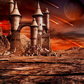 Castle on the wasteland — Foto Stock