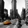 Stock Photo: Flat Iron Building, new york city usa.Black and white photo