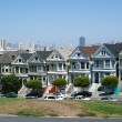 Stock Photo: SFrancisco, Alamo square famous painted ladies