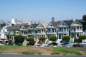 San Francisco, Alamo square famous painted ladies — Stock Photo
