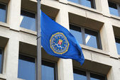 FBI flag on FBI Headquarters,J.Edgar Hoover Building — Stock Photo