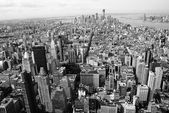 Black and White New York City panorama — Stock Photo