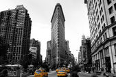 Flat Iron Building, new york city usa.Black and white photo — Stock Photo