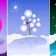 Tree, in the morning, day and night — Stock Photo