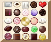 Graceful chocolates — Foto Stock